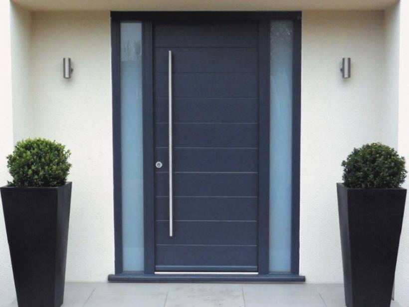 Simple Front Door Design Idea