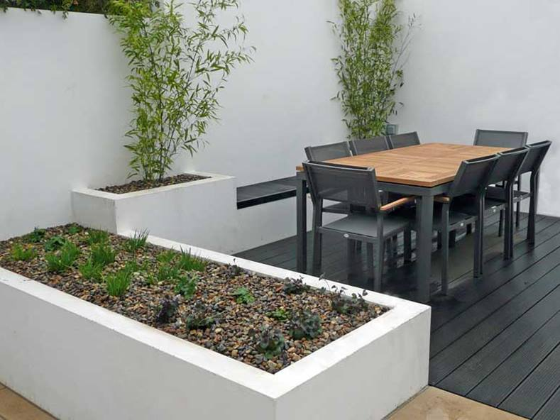 Simple Urban Garden For Minimalist Home