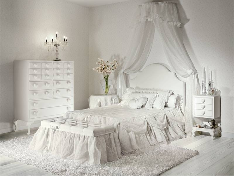 Simple White Furniture For Girl Bedroom