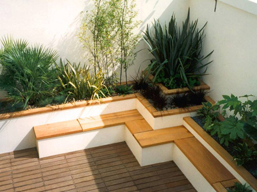 Terrace Garden Design In Narrow Land