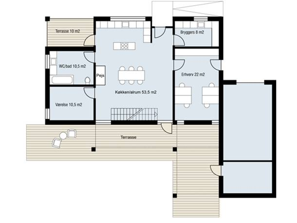 Urban Home Plan With Minimalist Style