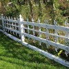 White Paint For Minimalist Wooden Fence