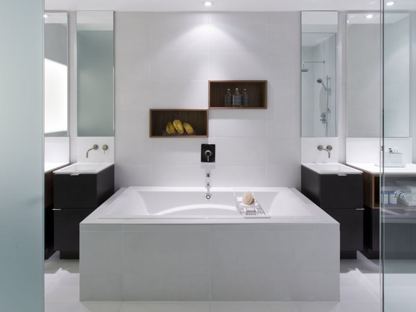 White Urban Bathroom Decorating Ideas