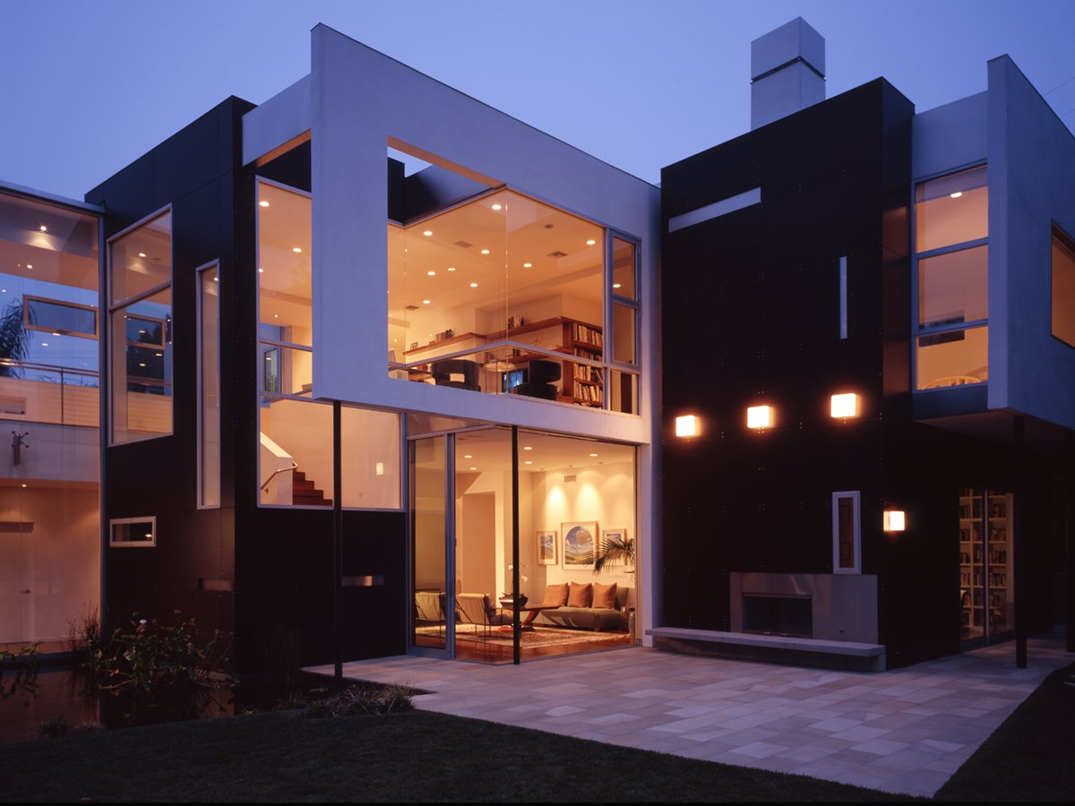 Beautiful Black White Dream House Exterior