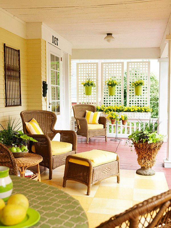 Beautiful Front Porch Furniture Decoration