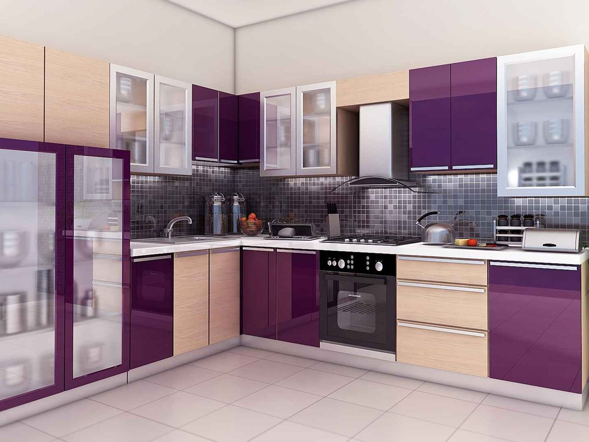 Modular kitchen furniture design color 4 home ideas for Beautiful kitchen colors