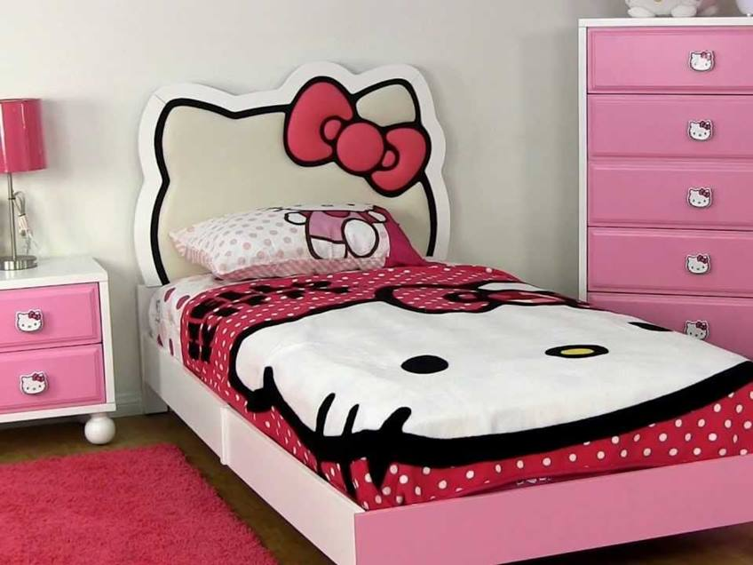 Bedroom Furniture With Hello Kitty Theme