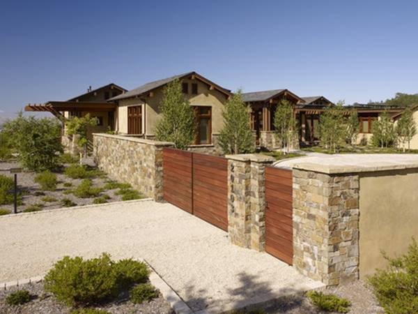 Best Wood And Natural Stone Fence Design