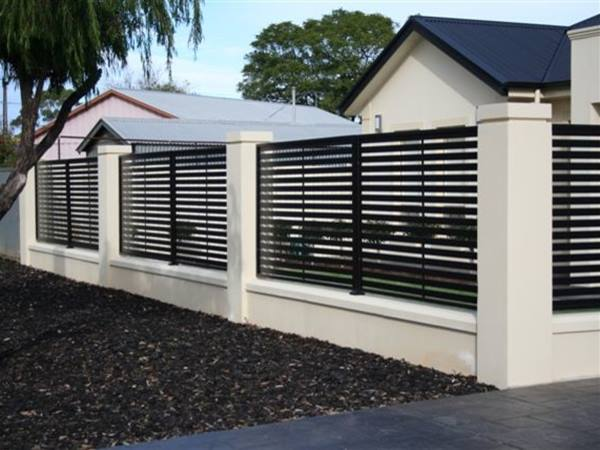 Black And White Minimalist Fence Color