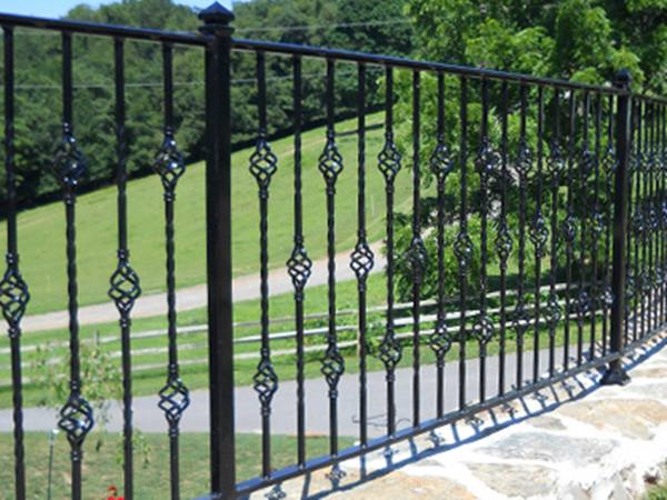 Black Iron Fence For Modern House