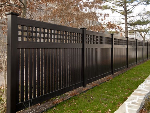 Awesome Black Wooden Fence Color Scheme