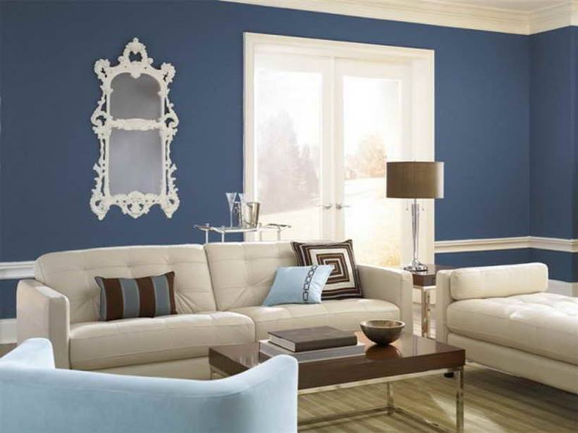 Blue Living Room Interior Color