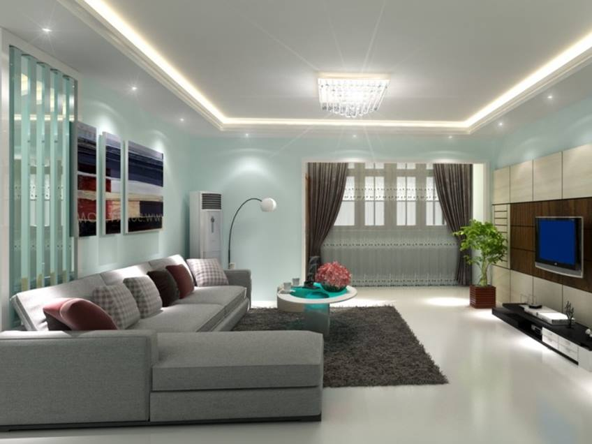 paint color schemes selection for small living room 4