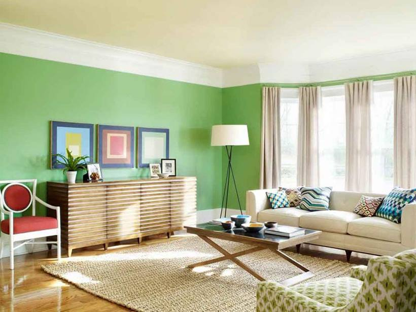 Calm Color Combination For Living Room