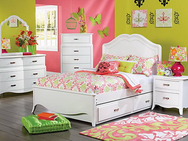 Cheerful Color For Teenage Girl Bedroom