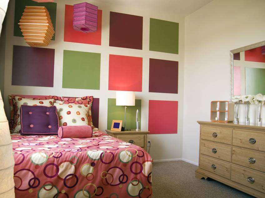 Colorful Bedroom Paint For Teenage Girl