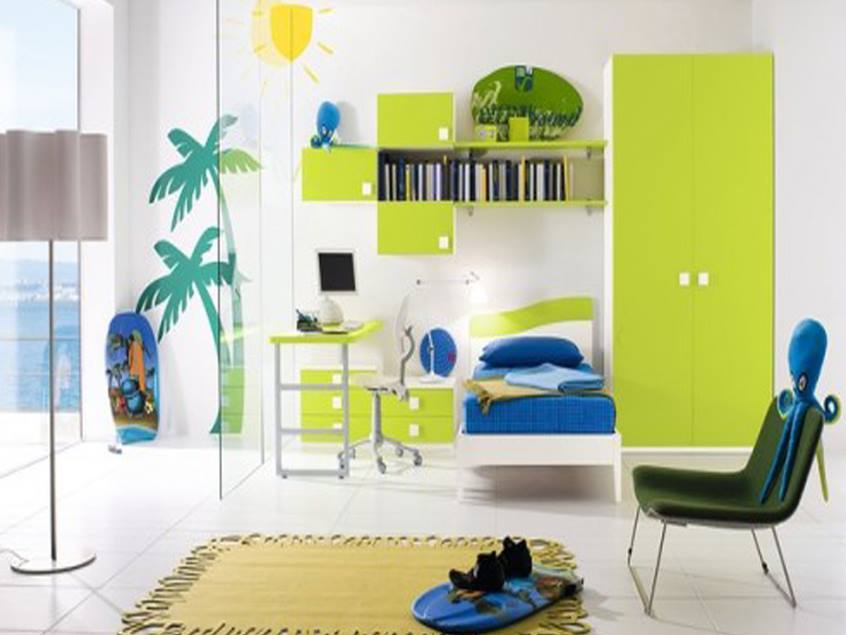 Colorful Minimalist Bedroom For Kids