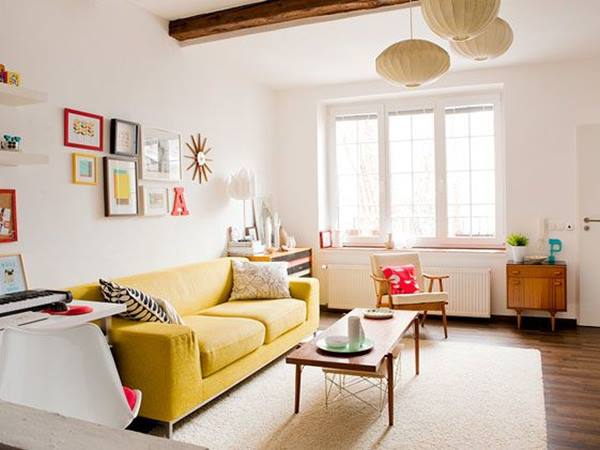 Colorful Small Living Room Accessories Idea