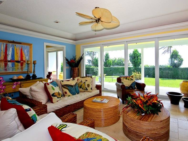 Colorful Tropical Home Design Idea