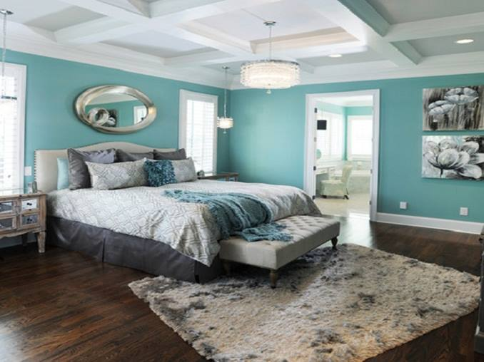 Cool Blue Color For Main Bedroom