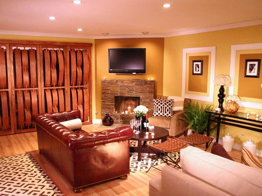 Cozy Living Room Paint Color Idea