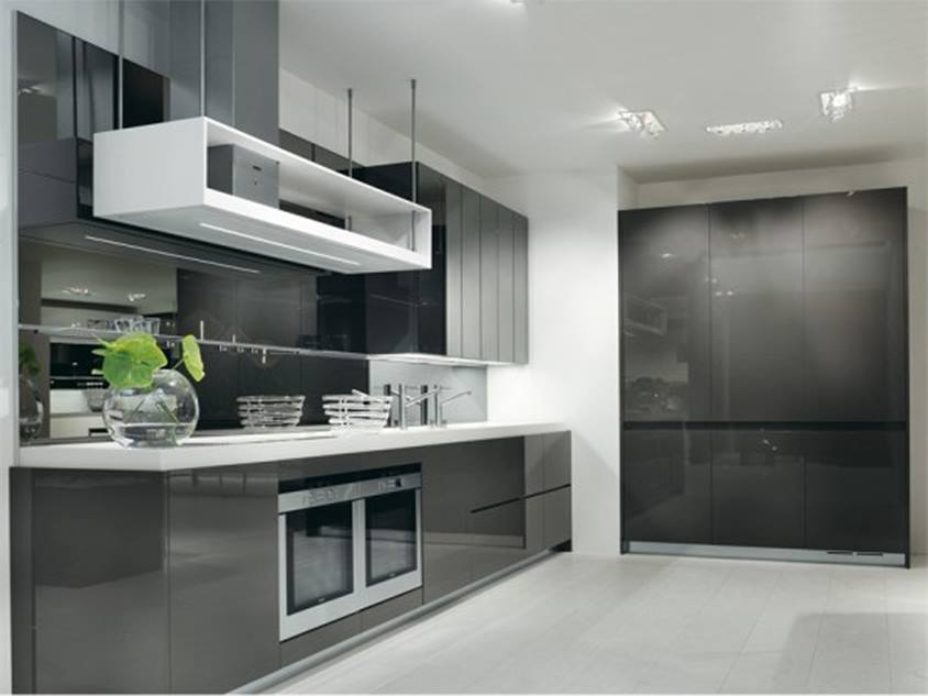 Elegant Black White Paint For Small Kitchen