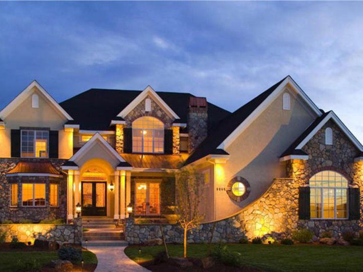Elegant Dream House Lanscaping Idea Home Ideas