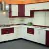 Elegant Red White Modular Kitchen Idea