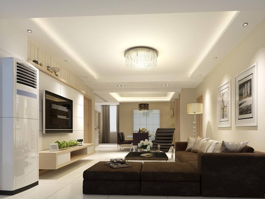 Elegant White Ceiling Design Layout