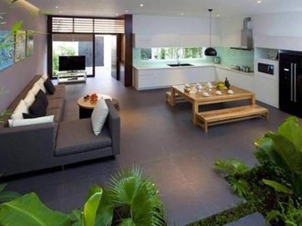 Fresh Living Room With Indoor Garden