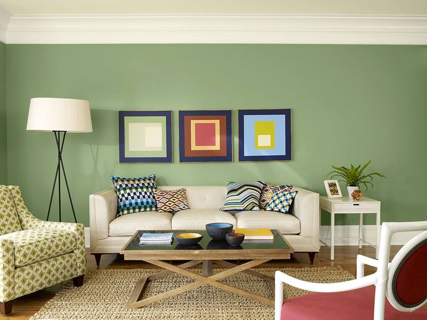 Green Paint Color For Small Living Room