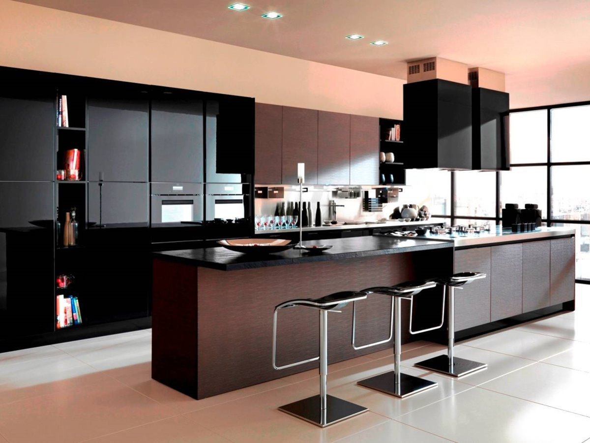 Latest kitchen colors home design for Kitchen cabinet trends 2018 combined with security stickers for windows