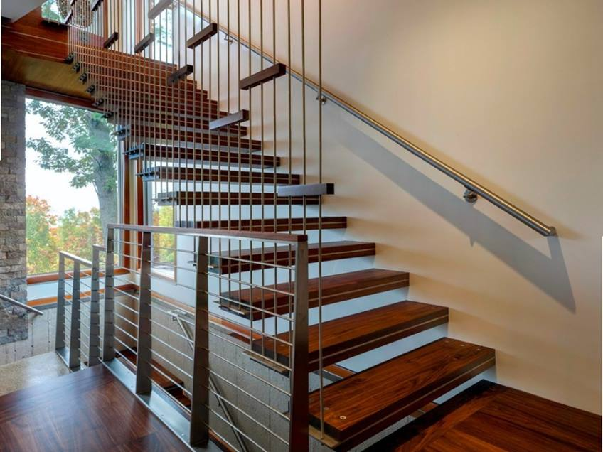 Luxury Wooden Home Stairs Design