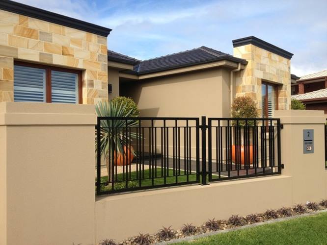 Minimalist Fence Design For Modern House