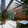 Minimalist Glass Terrace Roof Design