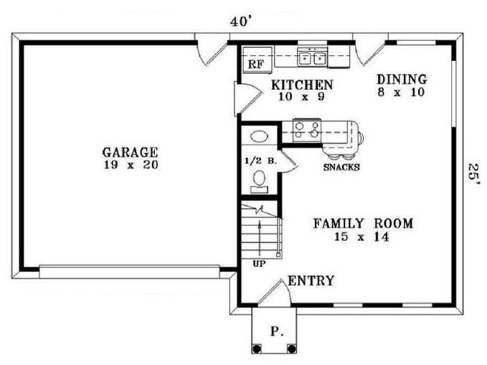 Minimalist Home Plan With Simple Interior