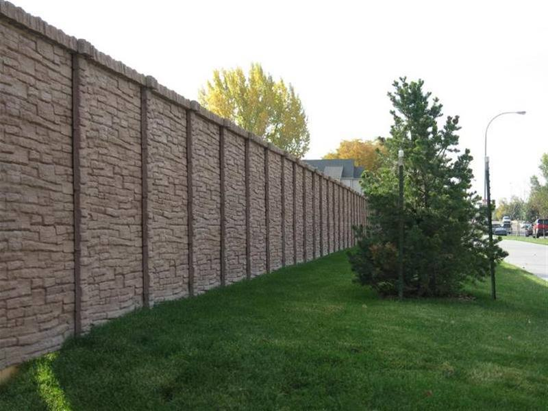 Minimalist Natural Stone Fence Design Picture