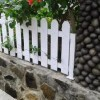 Mix Natural Stone And Wood Fence