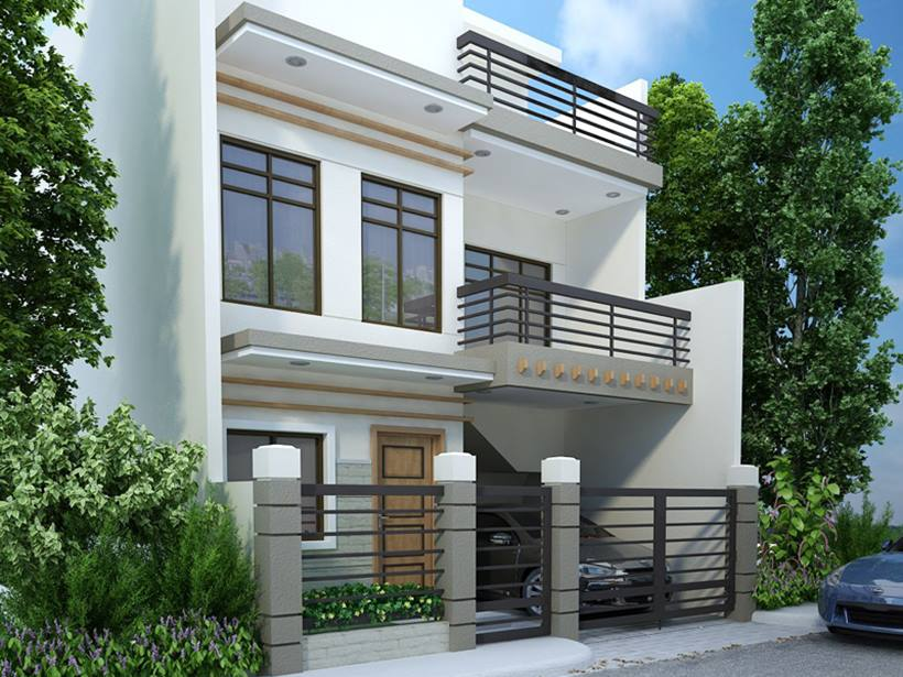 Modern 2 Storey Home Design Model