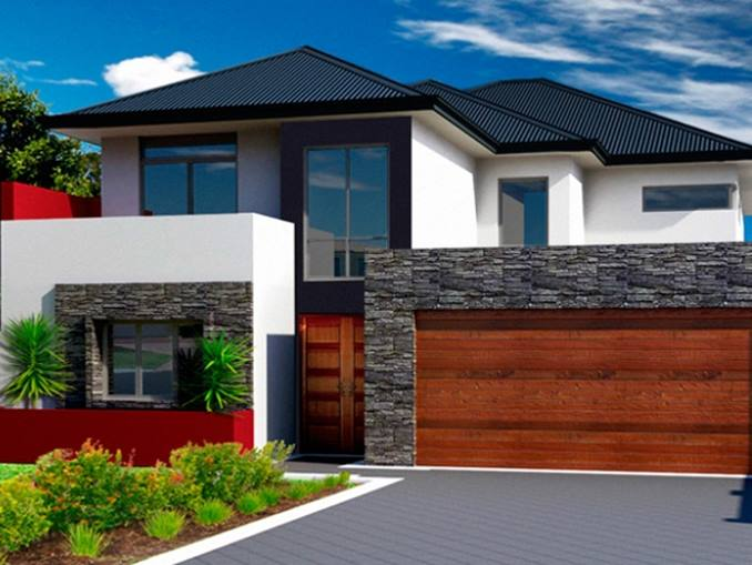 Newest luxury 2 storey minimalist home pictures gallery for Simple modern two story house design