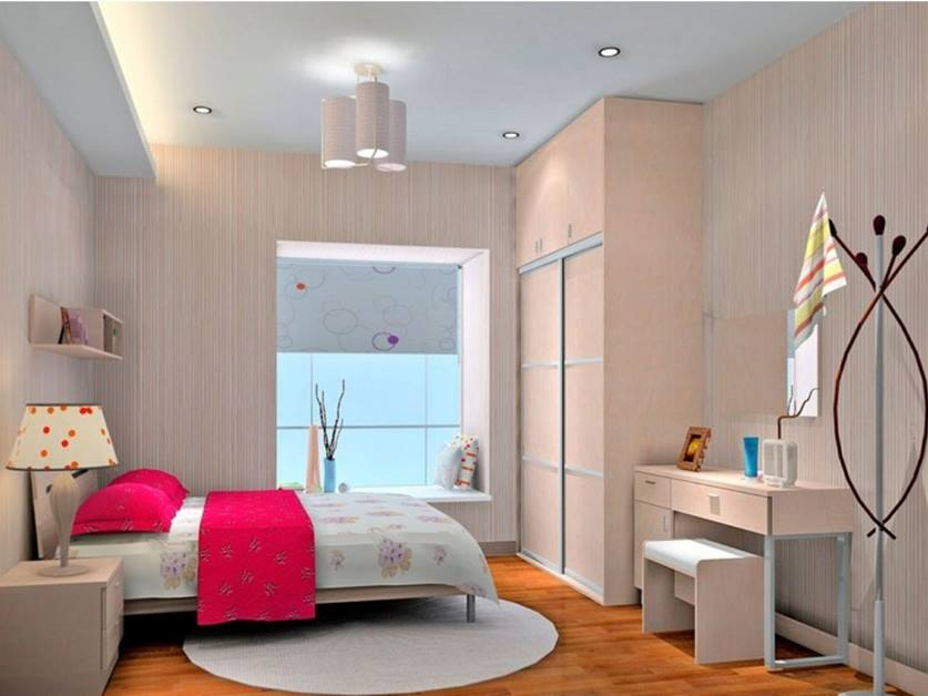 Modern Girl Bedroom Decorating Idea