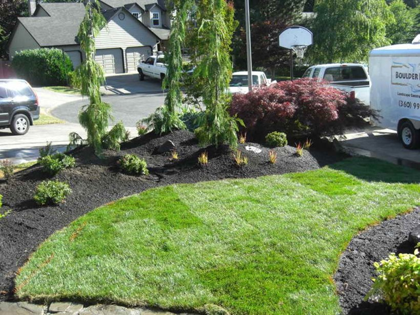 Nice Front Yard Idea For Minimalist Home
