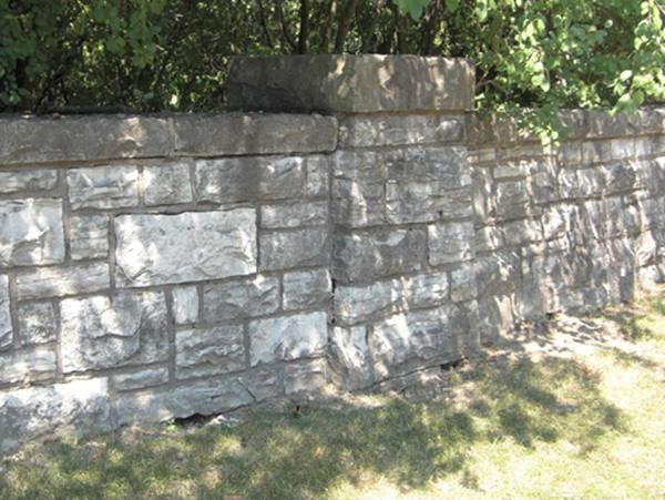 Nice Natural Stone Fence Design Image