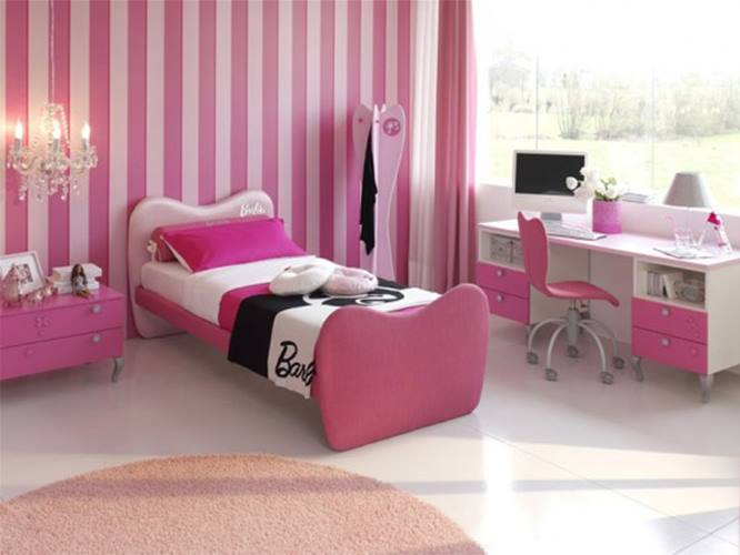 Nice Pink Bedroom Decor For Girl