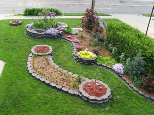 Nice Small Front Yard Landscaping Idea