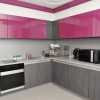 Pink Gray Minimalist Kitchen Color Scheme