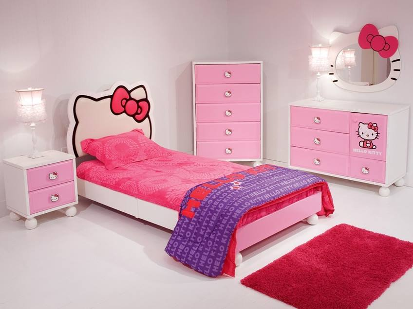 Pretty Girl Bedroom Design Idea. Hello Kitty ...