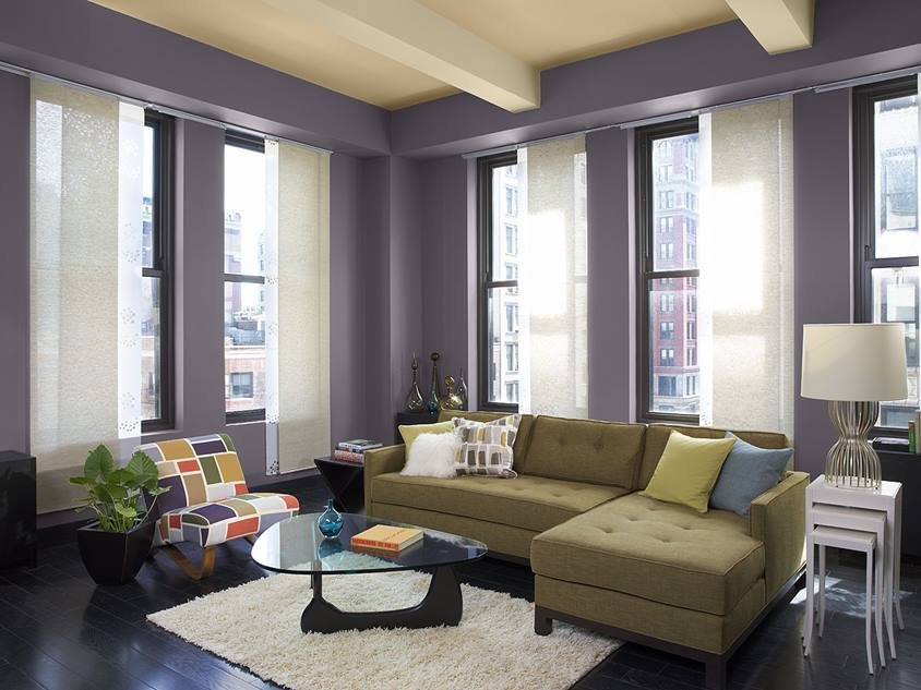 Purple Living Room Paint Color