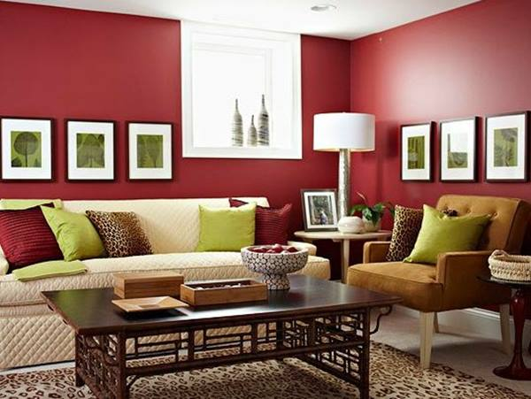 Red Home Interior Paint Color Scheme