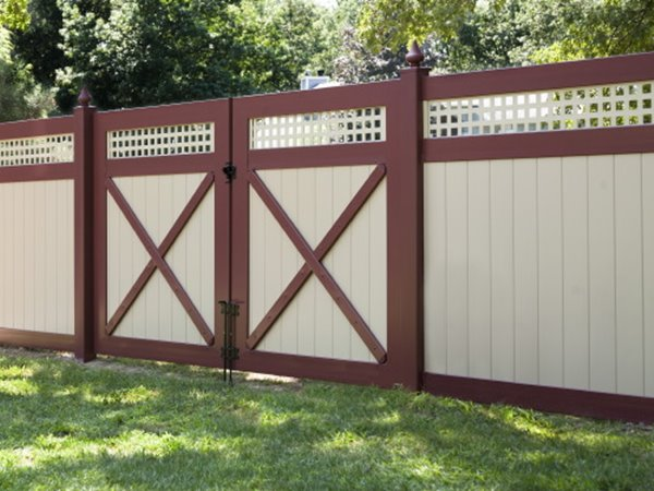 Perfect Red White Minimalist Fence Color